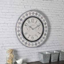 patio pavers outdoor wall clock