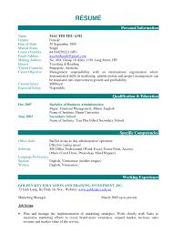 Resume Personal Information Sample Resume Personal Information Sample Cwresumeco 4