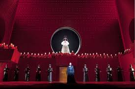 Turandot from Teatro alla Scala. Production by Nikolaus Lehnhoff. Sets by Raymond  Bauer.   Scenografia, Milano, Teatro