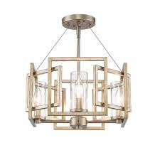 Marco Light Fixtures Golden Lighting 6068 Sf Wg Marco Semi Flush Pendant White Gold