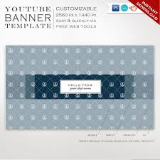 Channel Art Template Youtube Banner Template Nautical Youtube Channel Art Template Diy Youtube Channel Art Youtube Profile Header Image Smyt Aac
