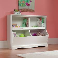 white bookcase storage organizer cubbyhole toys children desk bedroom kids books