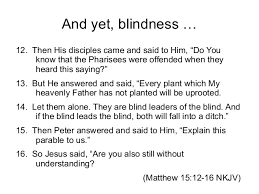 lecture blindness in an essay on blindness 1784 11 and yet blindness