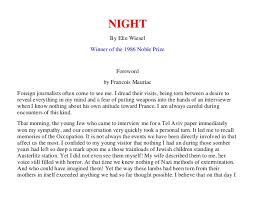 night by elie wiesel night by elie wiesel