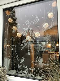 Chalk Marker On Glass Fenster Bemalen Mit Dem Kreidestift