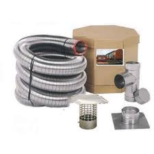 smooth wall stainless steel chimney liner kit