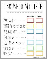 Somewhat Simple Chore Chart Practical Parenting Ideas 15 Free Organizational Printables