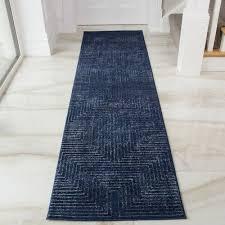 modern indigo blue geometric hall runner rug long narrow hallway runner rugs new