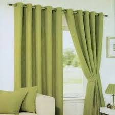 Lime Green Curtains Eyelet Lined Voile Tahiti 56 X 90 By