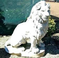 small lion garden statue outdoor statues concrete for