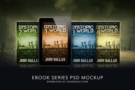 5 x 8 dystopian ebook series mockup