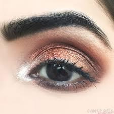 copper bronze makeup on deep set of eyes eotd