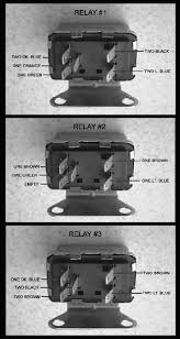 faq by having a triple plug a missing terminal relay r3 is in line r2 the relays must the wired as illustrated in the following pictures