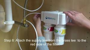 Under Sink Filter Systems How To Install An Aquasana Aq 5200 Under Counter Drinking Water