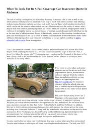 what to look for in a full coverage car insurance quote in alabama by amie8woods1 issuu