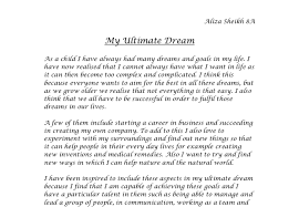 dream in my life essay my dream life essay examples kibin