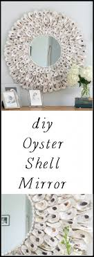 this diy oyster shell mirror is so easy to make and adds instant charm to your