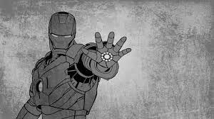 Looking for the best ironman wallpaper? Logo Iron Man Wallpaper Black And White