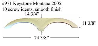 Keystone Rv Fender Skirt Fiberglass 971 Polar White