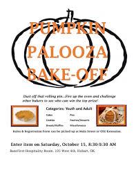 pumpkin palooka bake off bake off flyer