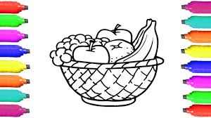 Small Picture Coloring Pages Fruits How to Draw Fruits Basket Art Videos for