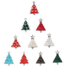 <b>10Pcs</b>/<b>lot</b> Random <b>Mixed Styles</b> Christmas Tree 18mm Snap Button ...
