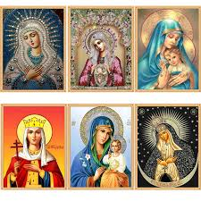 DIY Diamond Painting Cross Stitch 6 Picture Religion Icon <b>5d</b> ...