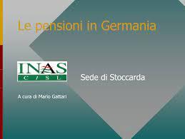 Le pensioni in Germania p