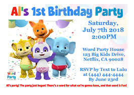 Birthday Invitation Party Word Party Netflix Birthday Invitation In 2019 Birthday