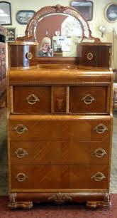 Tall Dresser Bedroom Furniture Art Deco Waterfall Tall Boy Dresser With Mirror Fleapop Buy