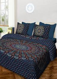 Screen Printing Designs For Bed Sheets Handmade Traditional 100 Cotton Mandala Hand Screen Printed Bedding Bedspread With 2 Pillow Queen Size