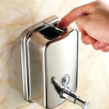 wall mounted shampoo dispensers details about soap shampoo dispenser wall mounted soap box metal press manual