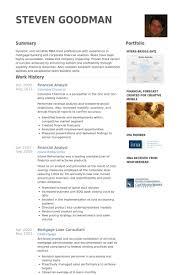 Financial Analyst Resume Samples Visualcv Resume Samples Database