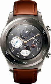 huawei watch 2 classic. huawei - watch 2 classic smartwatch 45mm plastic/stainless steel titanium gray front_zoom