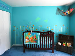 ... Bedroombabyoy Nursery Finding Nemo Theme Ideas Withlue Seaaby Wall Color  Schemes As Well More Doll For ...