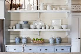 Shelves In Kitchen Open Corner Shelves In Kitchen Natural Wine Glass Wooden Stained