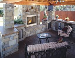 outdoor kitchen and fireplace designs decor