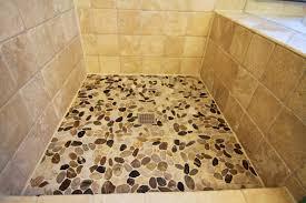 fabulous bathroom decoration with pebble tile shower floor design ideas gorgeous bathroom decoration using pebble