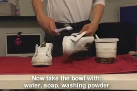 how to clean white leather nursing shoes