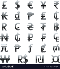 Currency Symbols Of The World Royalty Free Vector Image