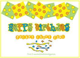 Teach It With Class Birthday Pocket Chart Freebie