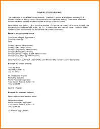 9 Headings For Cover Letters Resume Type Regarding Cover Letter