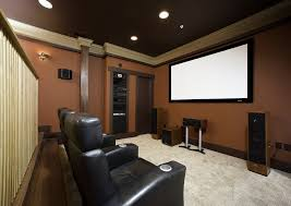 media room lighting ideas. media room ideas decorating home theater contemporary with brown wall recessed lights lighting