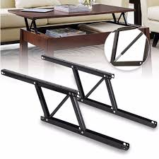 2 pcs lift up top coffee table lifting frame mechanism spring hinge hardware ly