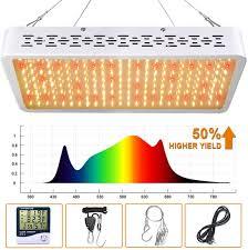 Best Led Grow Light For Peppers 2015 Amazon Com Oneo Led Grow Light 1000w Full Spectrum