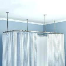 mesmerizing oval shower curtain rods ceiling mount shower curtain rod rods house oval for oval shower curtain rod canada
