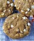 amazing pumpkin white chocolate chip cookies