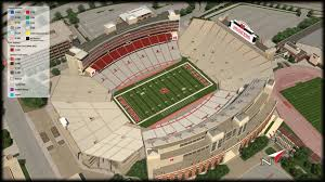 University Of Nebraska Football In Memorial Stadium Lincoln