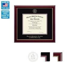 virginia tech diploma frames campus emporium virginia tech gallery diploma frame ground shipping