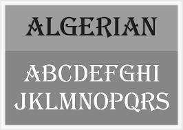 algerian font alphabet stencil